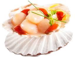 cuisiner noix de jacques surgel馥s noix de st jacques surgelées avec corail 400 g livré chez vous par