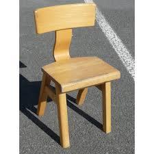 chaise d colier chaise d écolier en bois clair vintage d occasion design tendance