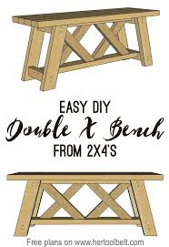 Free Plans For Outdoor Picnic Tables by Best 25 2x4 Bench Ideas On Pinterest Diy Wood Bench Bench