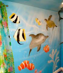 children s murals tropical fish mural private residence arlington va painted for hgtv show kidspace