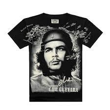 World Map T Shirt by Vmall 2016 Summer Sassy Black Tops Che Guevara Tee Shirt 3d Print