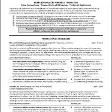 human resources resume exles resume sle of hr manager best of powerful human resources resume