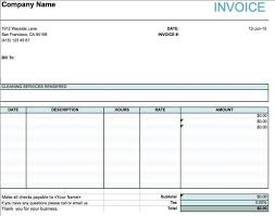 free simple basic invoice template excel pdf word doc example