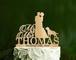 wedding cake topper custom wedding cake topper with dog
