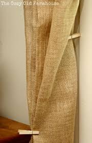 Burlap Ruffled Curtains Burlap And Muslin Curtains Top Curtain Ruffle Stenciled Best Drop