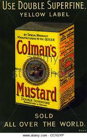 coleman s mustard colman s mustard advert stock photos colman s mustard advert