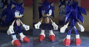 Sonic The Hedgehog Papercraft - sonic the hedgehog by marlous2604 on deviantart