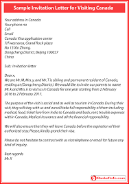 template for invitation letter to visit canada orax info