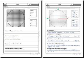 fläche kreis mathematik geometrie arbeitsblatt kreis fläche 8500 übungen