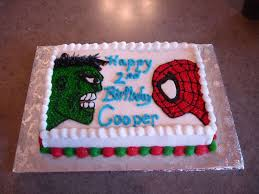 spider man incredible hulk birthday cake cakecentral com