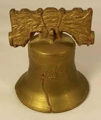 vintage large bells of sarna brass liberty bell limited