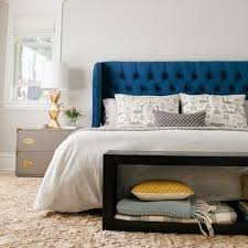 Blue Upholstered Headboard Tufted Headboard Upholstered Furniture Bedroom Ideas Home Decor