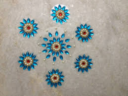 top 25 new kundan floor rangoli design images collection