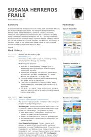 Resume Samples For Designers by Web Design Resume Samples Visualcv Resume Samples Database