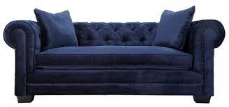 Chesterfield Velvet Sofa Robust Norwalk Navy Velvet Sofa By Tov Furniture Navy Blue Velvet