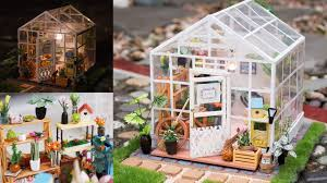 flower house diy dollhouse kit miniature greenhouse cathy s flower house