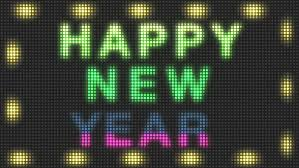 led new years happy new year text made of led lights stock footage