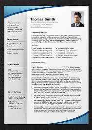 Resume Template With Picture Professional Cv Template In Word Free