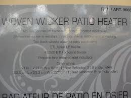 87 Patio Heater by Woven Wicker Outdoor Lp Patio Heater