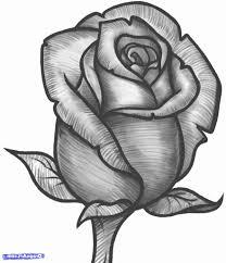 beautiful rose pencil sketch image tattoo drawings rose tattoo