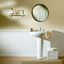 beadboard bathroom ideas ideas u0026 tips wainscoting ideas with round mirror and wastafel for