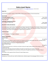 environmental engineer resume resume for your job application