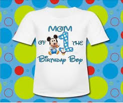 mickey mouse 1st birthday boy blue baby mickey mouse of the birthday boy t shirt mickey 1st