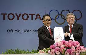 toyota official olympics forge big sponsorship deal with toyota la times