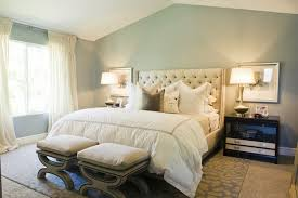 ivory tufted headboard contemporary bedroom sherwin williams