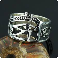 mojoii silver ring eye of horus udjat