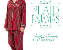 plaid pajamas etsy