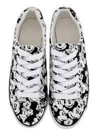tennis shoes women classic mickey mouse black u0026 white