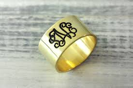gold monogram rings monogram rings sparkles and shoes