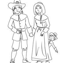 pilgrim family coloring pages hellokids