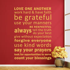 inspirational wall murals promotion shop for promotional love one another have faith be grateful vinyl inspirational quotes wall murals word sayings 34