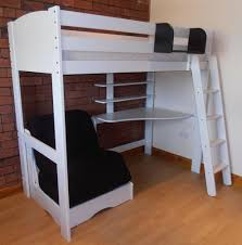 High Sleeper Bed With Futon High Sleeper Bed With Futon Desk And Shelves White With Futon In