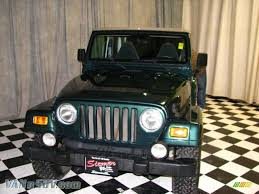 jeep dark green 2000 jeep wrangler sahara 4x4 in forest green pearl 796289