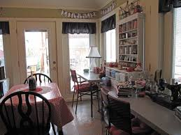 Dining Room Craft Room Combo - cozy sewing space