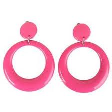 80s hoop earrings neon green vintage metal hoop earrings enamel large hinged