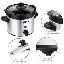 stoneware rice cooker aicok cooker pot adjustable temperature cooker pot
