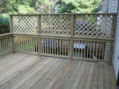 Privacy Walls For Patios by Deck With Planters And Lattice Privacy Screens Deck Privacy
