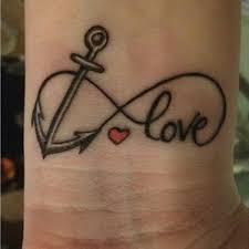 cool infinity tattoo anchor wrist tattoo on tattoochief com
