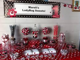 ladybug birthday table decorations image inspiration of cake and