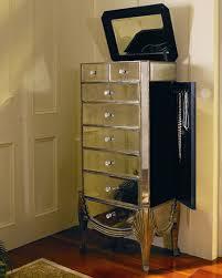 jewlery armoire mirror claudia mirrored jewelry armoire