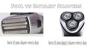electric shaver is better than a razor for in grown hair foil vs rotary electric shaver youtube