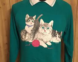 cat sweater cat sweater etsy