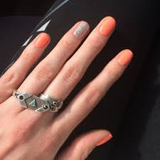 gel nails with sparkles and jewel accents yelp