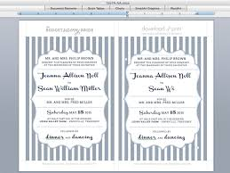 diy wedding invitation templates foil sted wedding invitation with bold stripes