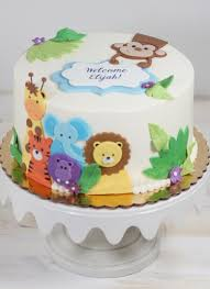 animal friends baby shower cake whipped bakeshop