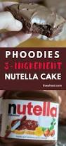 3 ingredient nutella chocolate cake recipe easy video instructions